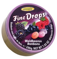 Fine Drops forest berries  200g tin Woogie